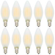 10X Nicht Dimmbar E14 4W LED Glühfaden Kerzenlampe 2700K Warmweiß Matt Glas