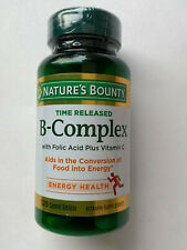 Nature's Bounty B-Complex with Vitamin C ( 125 Coated tablets ) Energy Health NE