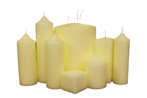 Church Pillar Candles - High Quality Ivory-White Large Unscented Long Burn Wax