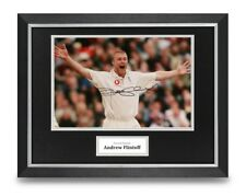 Andrew Flintoff Signed 16x12 Framed Photo Display Cricket Autograph Memorabilia