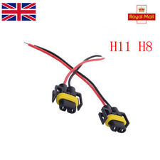 H11 H8 BULB HOLDERS CONNECTOR WIRE PLUG FIT FOR HEADLIGHT or FOG LIGHT 2pcs