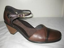 Dansko Brown Leather Comfort Sandals Women Shoes Sz 38 / 7.5 Made In PORTUGAL.