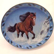 Horse Spirited Visions Plate Collection Danbury Mint Cascading Thunder Vtg