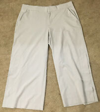 Women Athleta 14P Capri Wide Leg Pants Light Color