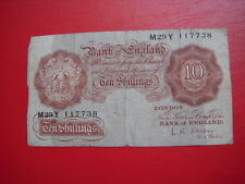 A NOVEMBER 1955  O BRIEN TEN SHILLING NOTE SERIAL M29Y FROM MY COLLECTION