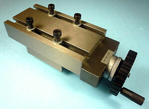 """Precision Cross Slide For Lathe Mill Drill 2-3/4"""" x 5"""" Bed x 2-1/2"""" Travel New"""