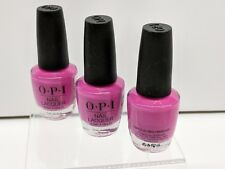 3 - Opi Nail Lacquer - No Turning Back From Pink Street - Nl L19 Nll19