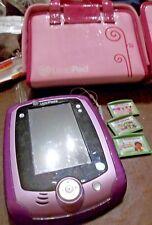 LeapFrog Leappad 2 Purple w/ Pink Purse type Case & 3 Smartridges NICE!