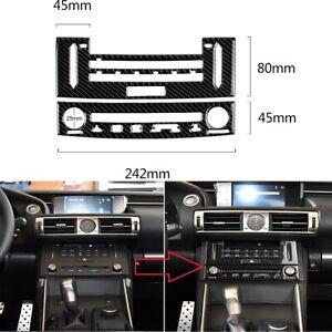 Carbon Fiber Central AC Control CD Panel Trim For Lexus IS250 IS350 2014-2018