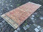 Vintage rug, Hallway rug, Runner rug, Turkish rug, Handmade, Wool | 2,9 x 6,9 ft
