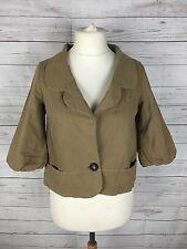 Women's Aubin & Wills Jacket - UK10 - Beige - Linen Blend - Great Condition