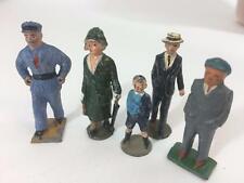 Lead Jhillco England Lot 5 Train Passengers Lady Umbrella Boy Porter Gentlemen