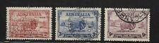 Australia Scott #147-#149 used 1934 Merino Sheep set lightly cancelled, f/vf