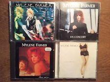 MYLENE FARMER [4 cd albums] ainsi avec jamais + anamorphose + En concert + Live a Bercy