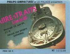 RARE / TICKET CONCERT - DIRE STRAITS MARK KNOPFLER LIVE A GRENOBLE / FRANCE 1985