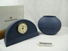 Wedgwood Interiors Mantle Clock & Matching Vase in Superb condition now rare !!!