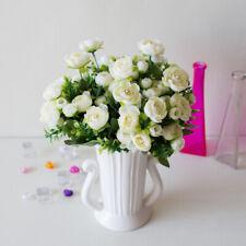 1pc 6 Head Artificial Fake Silk Camellia Rose Flower Home Wedding Party Decor