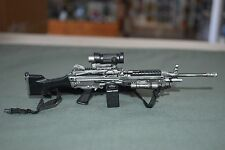 "BBI 1/6 M243 Machine Gun Model Weapon + Sight Sling Mag for 12"" Figures W-156"