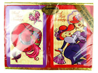 New CONGRESS PLAYING CARDS Red Hat Society Double Deck In Box Sealed