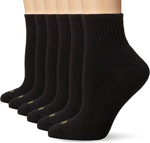 Hue Women Clothing 6 Pack Black Crew Socks One Size