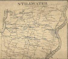 Stillwater Malta Round Lake Bemis NY 1866 Maps with Homeowners Names Shown