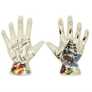 Palmistry tattoo hand  - Different design on palm and front of hand