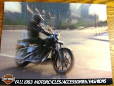 1983 1984 Harley Davidson Fashion & Accessories Brochure Sportster Low Rider
