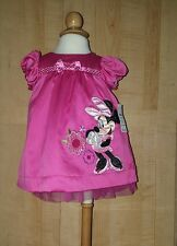 Minnie Mouse Disney store Baby Pink  2 piece Dress 3-6 month NWT Great 4 Easter