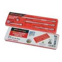 "5 piece ¼"" Drive Socket Extension Bar Set with wobble end 50 75 100 150 225mm"