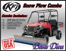 """KFI 66"""" Snow Plow Blade Mount Combo Kit: John Deere Gator HPX XUV 850D 620i"""