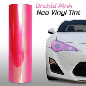"12""x24"" Chameleon Neo Pink Headlight Fog Light Taillight Vinyl Tint Film (g)"