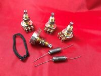 Wiring Kit for Gibson Les Paul 500K Long Shaft Pots  PIO Aged Vintage Tone Caps