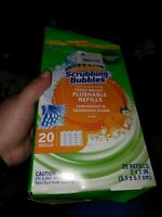 Fresh Brush Toilet Cleaning System, Flushable Refill, 20 Count