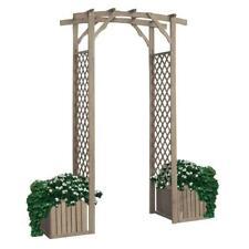 Portale patio fioriera traliccio arco pergola in legno 175x55xh230 cm