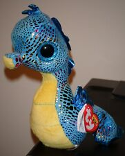 "Ty Beanie Boos ~ NEPTUNE the 6"" Seahorse ~ Stuffed Plush Toy (New) 2014 Design"