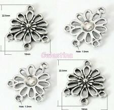 10 Antique Silver Flower Connector Chandelier Charms Joiners LF NF CF 25mm