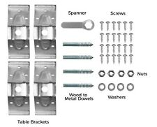 Set of Large Steel 95mm Furniture Table Corner Brackets Leg Braces With Spanner
