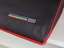 AMIGA 1200 - dust cover- graphite grey cotton canvas- embroidered