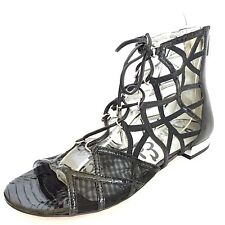 c105ec066a85 Sam Edelman Women s Denver Sandals Gladiator Leather Black Size 7 M RP  130