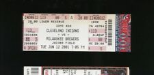 6/12/2001 Milwaukee Brewers @ Cleveland Indians Ticket - Jim Thome Career HR#250