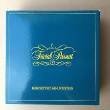 Trivial Pursuit. Komplett Set Genius Edition. Parker. 80s Vintage