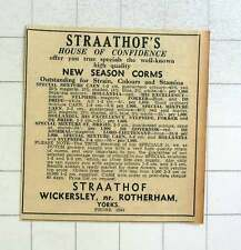 1957 Straathof's House Of Confidence Wickersley Rotherham, New Season Corms