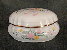 Melodies Celebration Collection Floral Lidded Fine Porcelain Musical Trinket Box