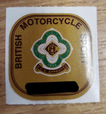 Genuine ACU Gold Sticker Auto Cycle Union Motorcycle Helmet Track Race Approval