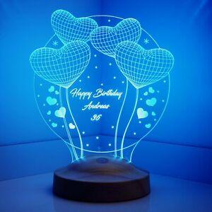 Ballon-Herzen Hochzeitsgeschenke Personalisierte Lampe mit Wunschtext