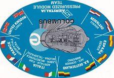 T8 Thème ESPACE 3 autocollants Go Space Whith COLUMBUS