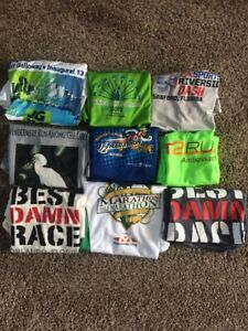 Lot Of 9 Orlando Fl Area Disney World Running Marathon Track Shirts Ladies Large