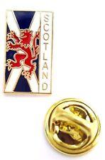 Schottland Andreaskreuz & Löwe Wappen Emaille Reversnadel Abzeichen T796