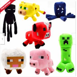 Minecraft Plush Toy Creeper Stuffed Animal Soft Plush Kids Birthday Gift UK New!