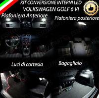 KIT LED INTERNI VW GOLF 6 VI KIT COMPLETO + VANO PIEDI 6000K NO ERRORE CANBUS